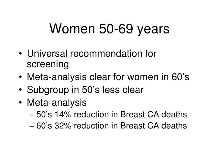 Women 50-69 years
