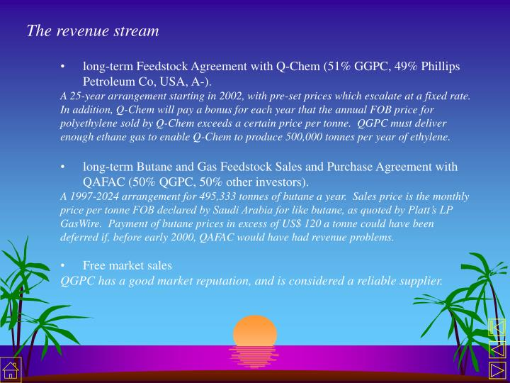 The revenue stream