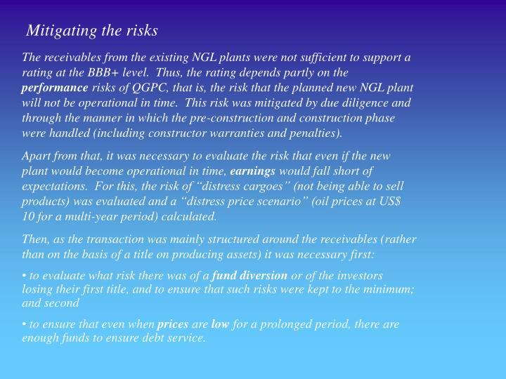 Mitigating the risks