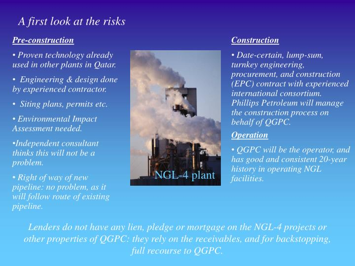 A first look at the risks