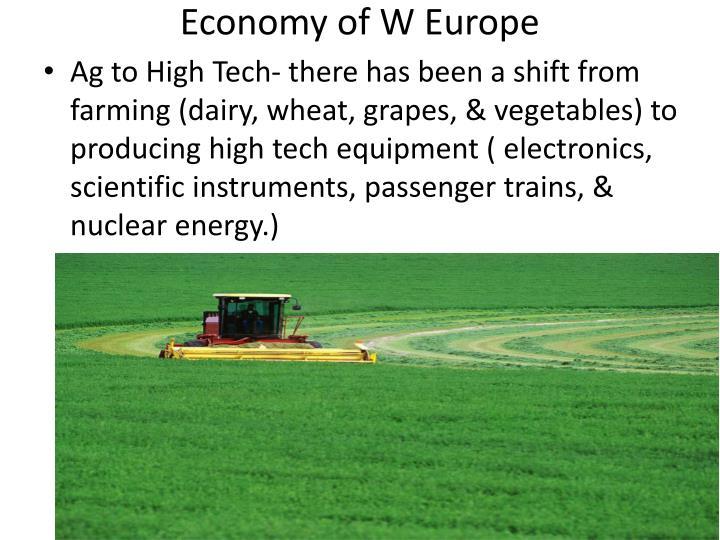 Economy of W Europe