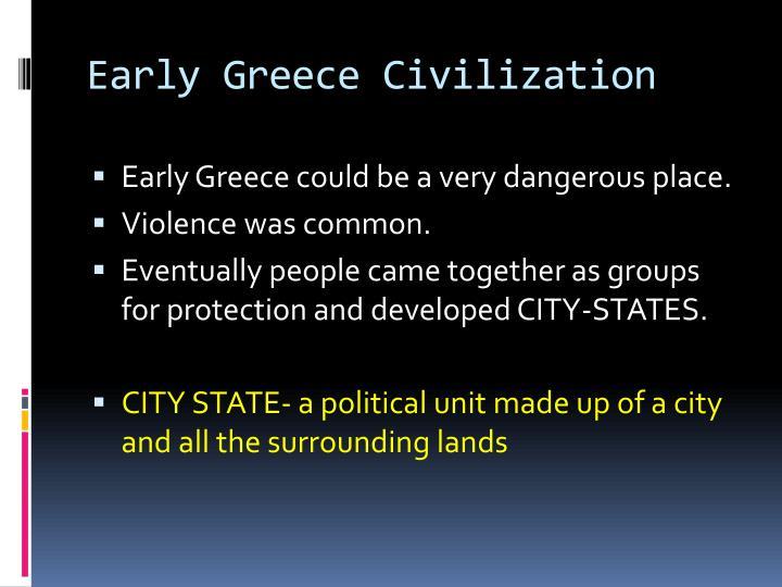 Early Greece Civilization