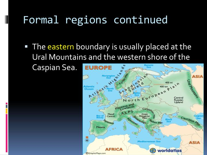Formal regions continued
