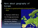 more about geography of europe