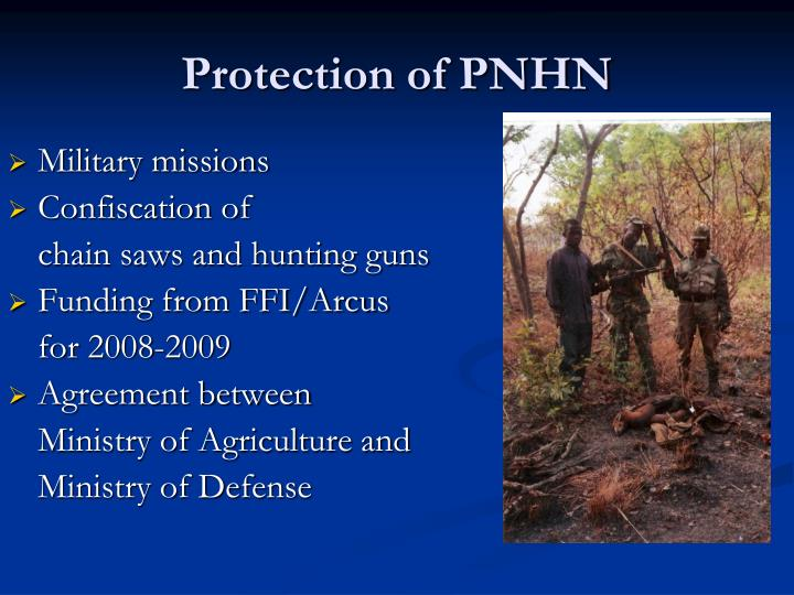 Protection of PNHN