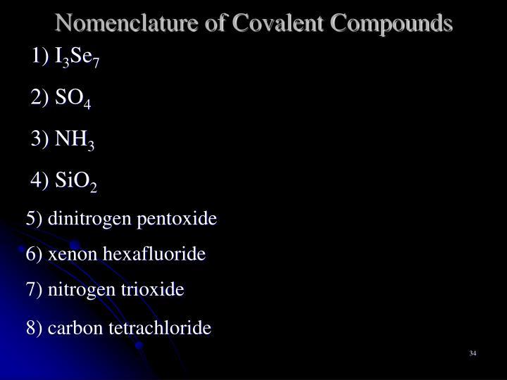 Nomenclature of Covalent Compounds