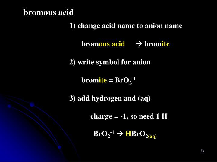 bromous acid