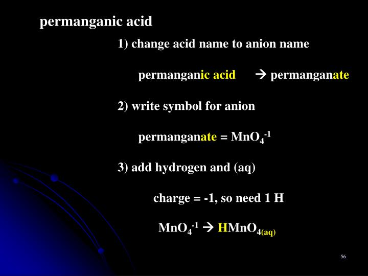 permanganic acid