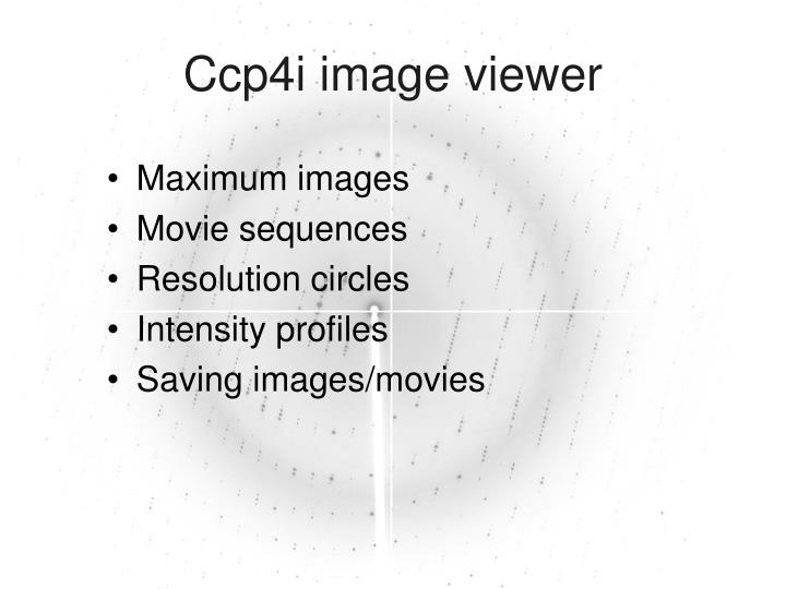 Ccp4i image viewer