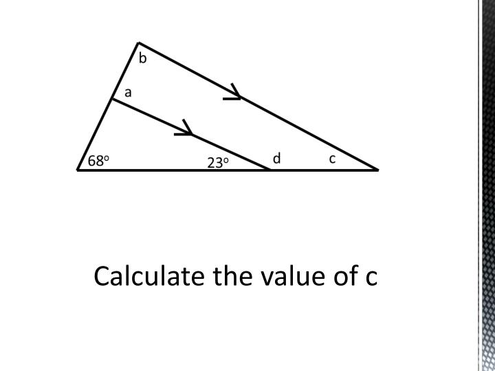Calculate the value of c