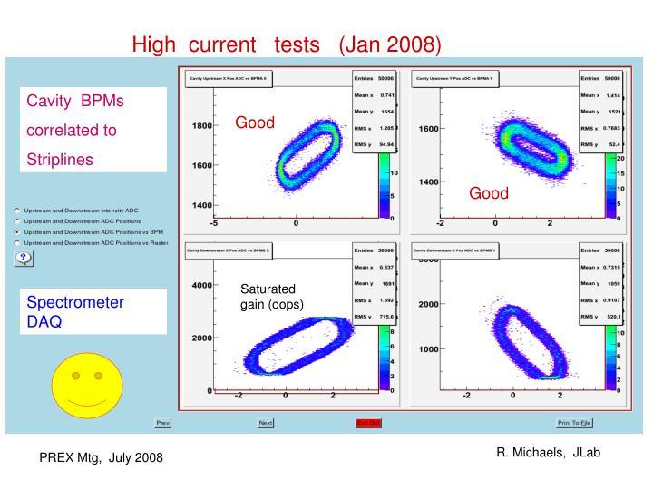 High  current   tests   (Jan 2008)
