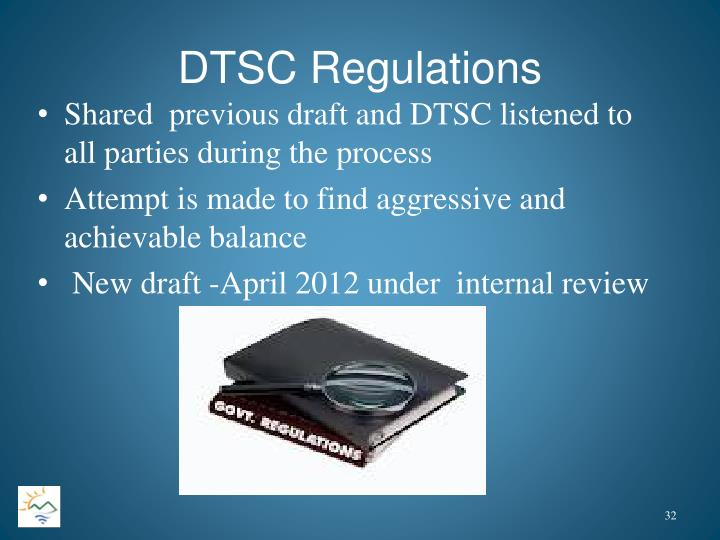 DTSC Regulations