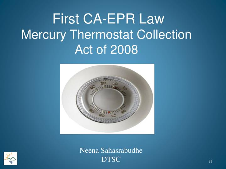 First CA-EPR Law