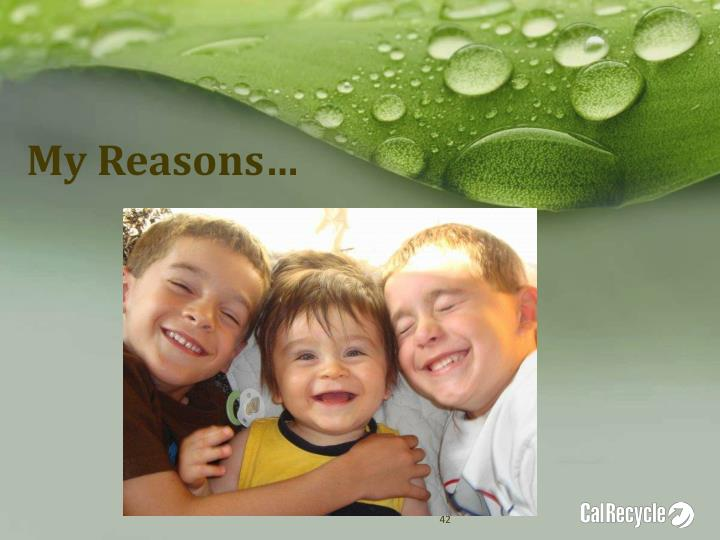 My Reasons…