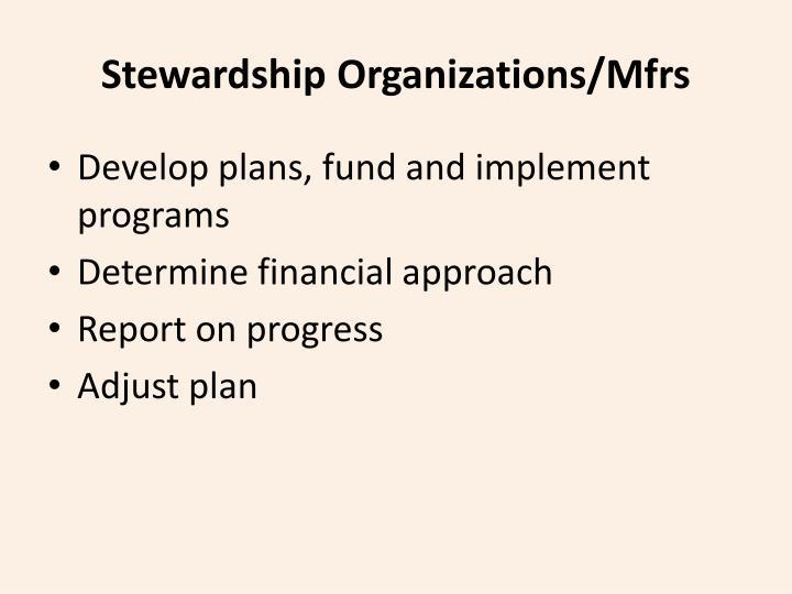 Stewardship Organizations/Mfrs