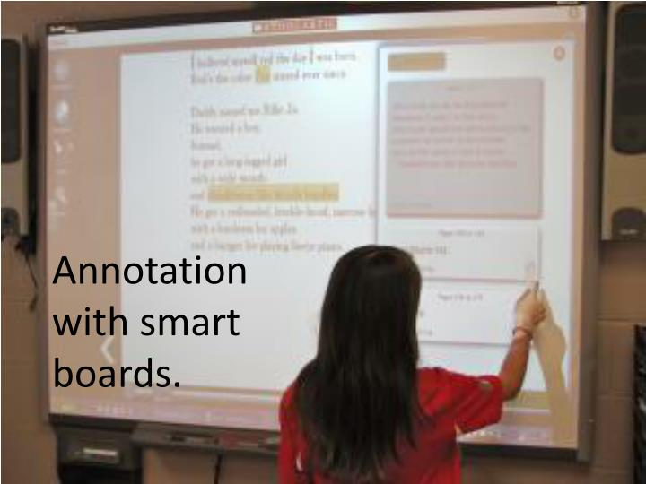 Annotation with smart boards.