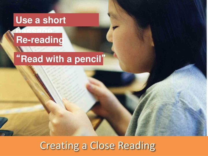 Use a short passage
