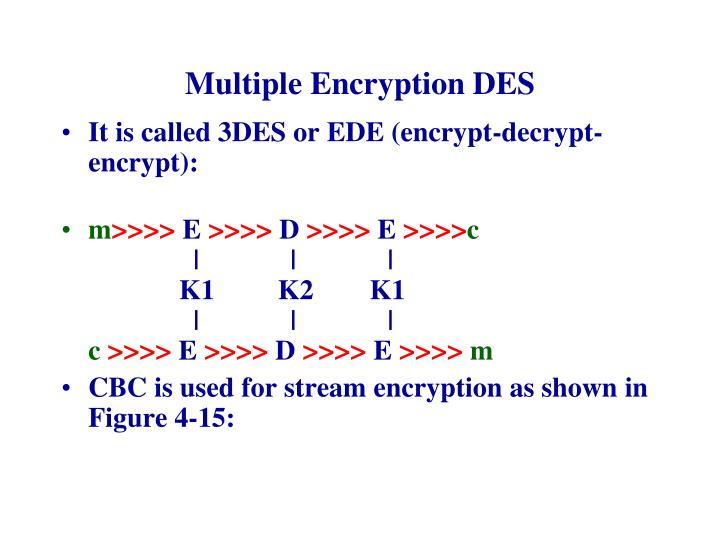 Multiple Encryption DES