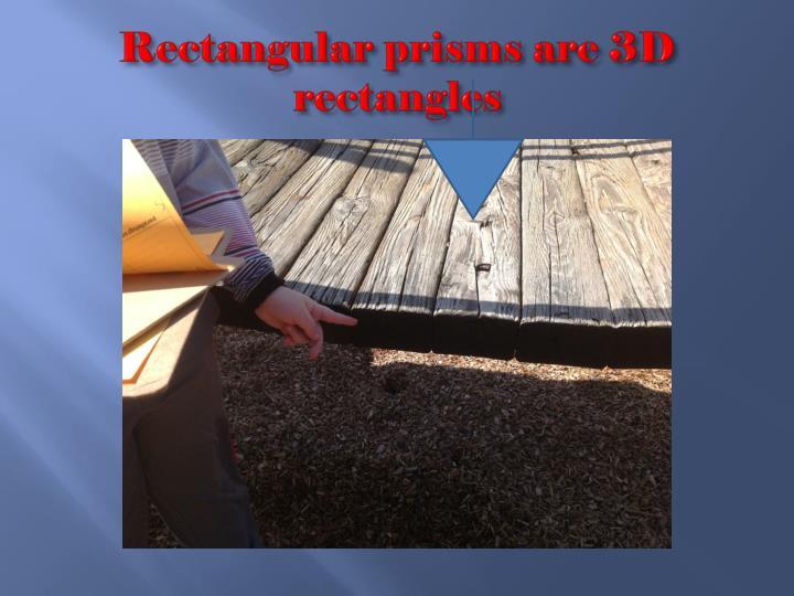 Rectangular prisms are 3D rectangles