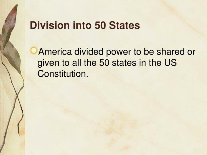 Division into 50 States