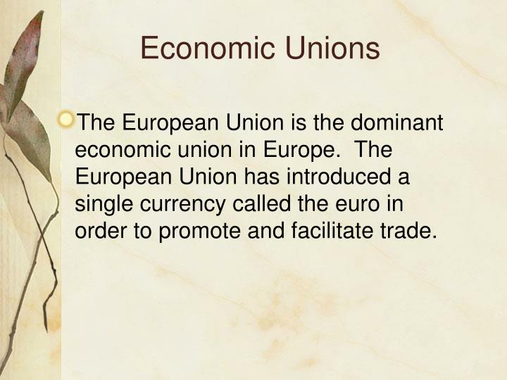 Economic Unions