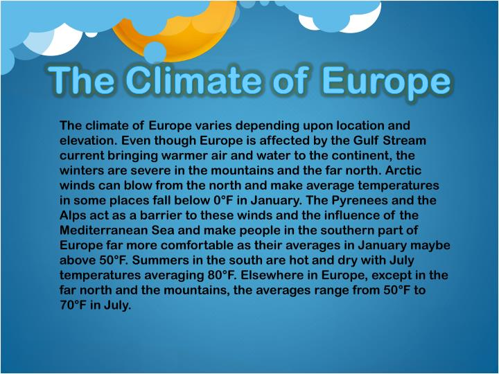 The Climate of Europe