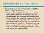 recommendation 10 part b