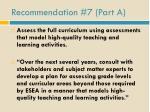 recommendation 7 part a