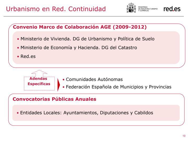 Urbanismo en Red. Continuidad