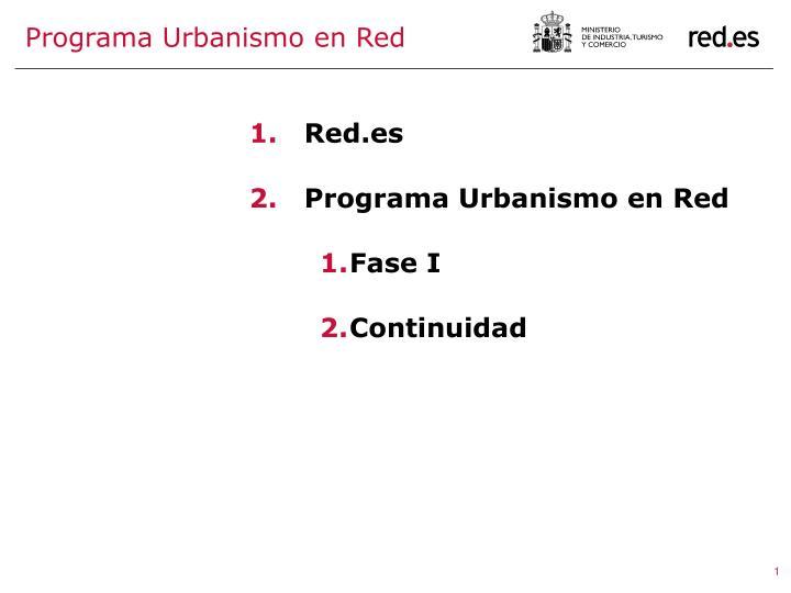 Programa Urbanismo en Red