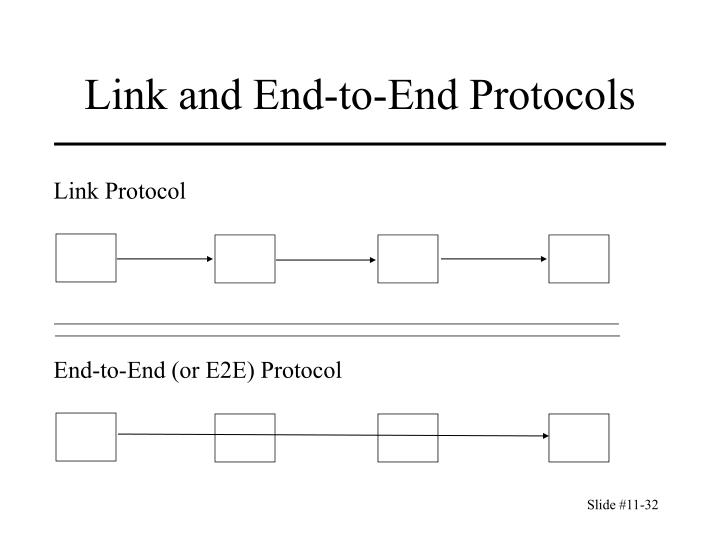 Link and End-to-End Protocols