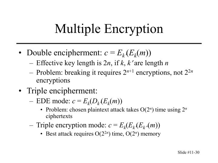 Multiple Encryption