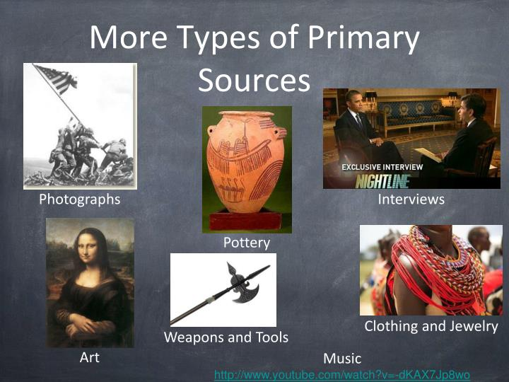 More Types of Primary Sources