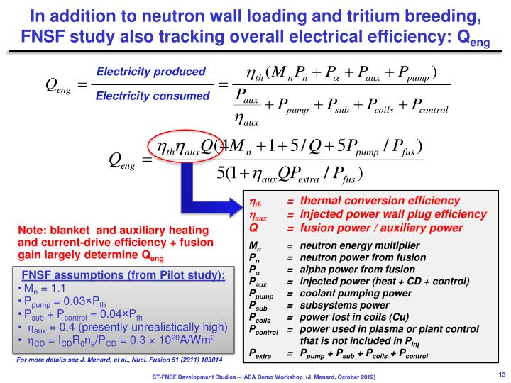 In addition to neutron wall loading and tritium breeding,