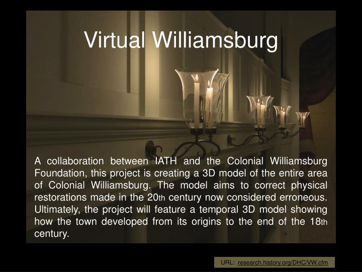 Virtual Williamsburg