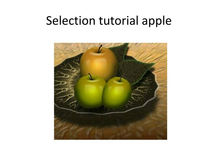 Selection tutorial apple