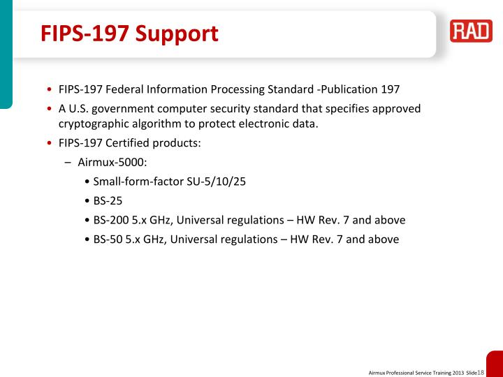 FIPS-197 Support