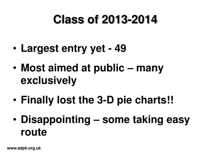 Class of 2013-2014