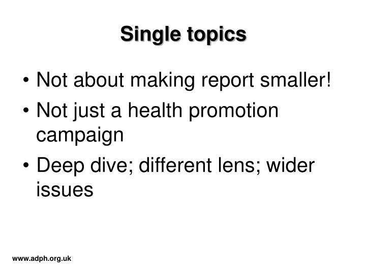 Single topics