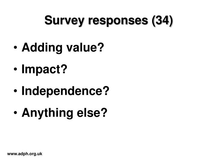 Survey responses (34)
