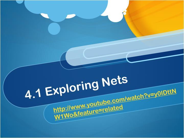 4.1 Exploring Nets