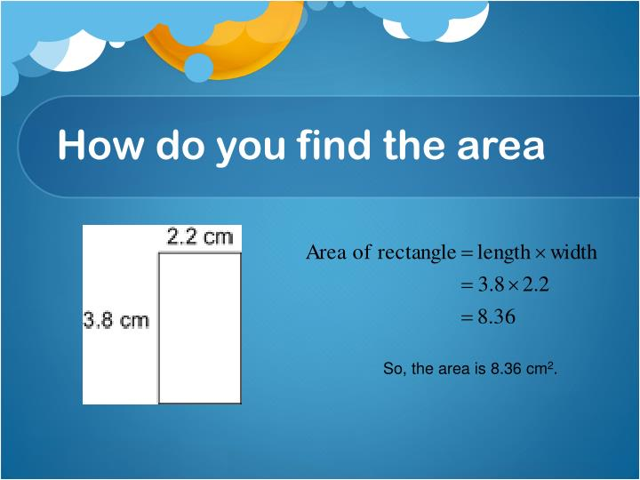 How do you find the area