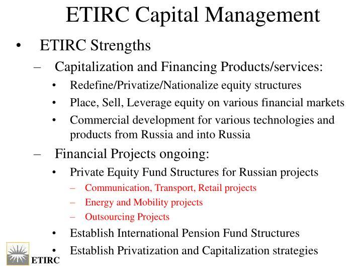 ETIRC Capital Management