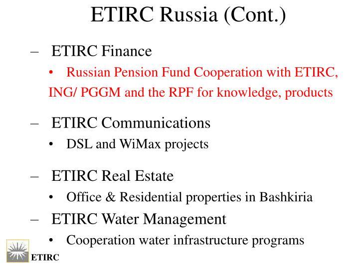 ETIRC Russia (Cont.)