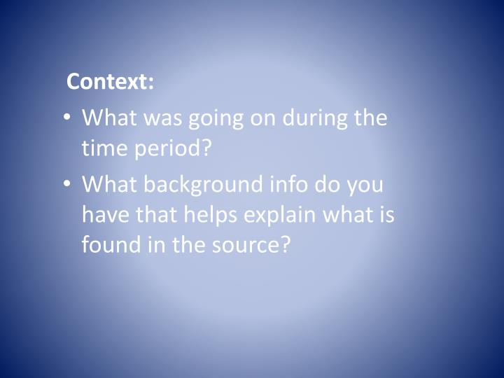 Context: