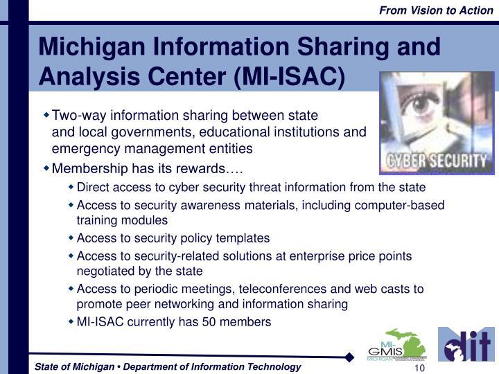 Michigan Information Sharing and Analysis Center (MI-ISAC)