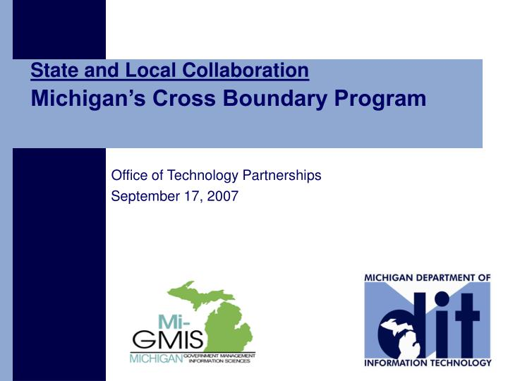State and Local Collaboration