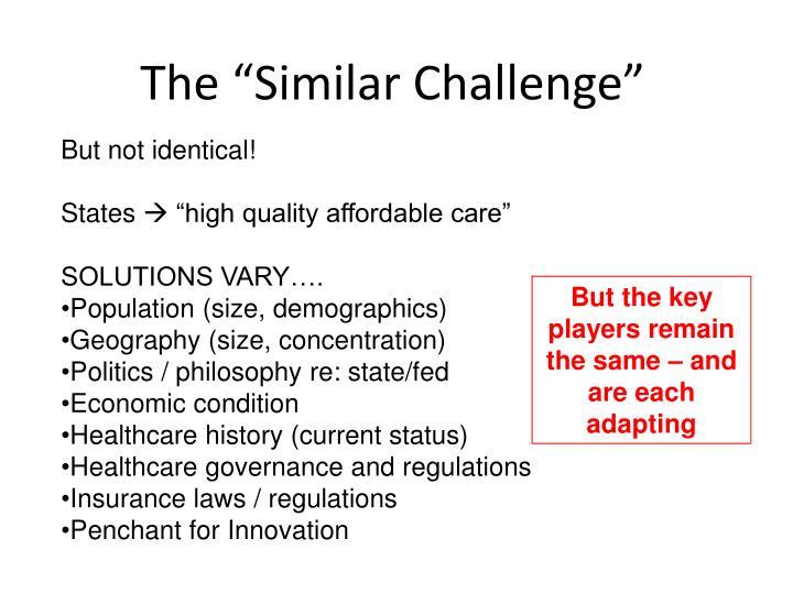 "The ""Similar Challenge"""