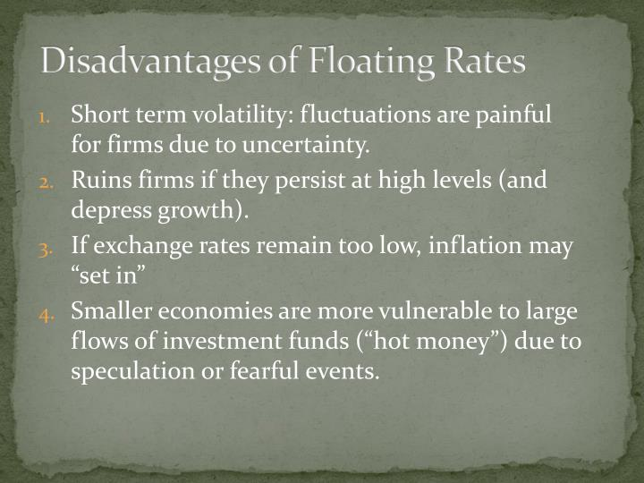 Disadvantages of Floating Rates