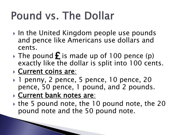Pound vs. The Dollar